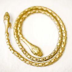 Vintage Gold Snake Belt $84 VeriteVintage.etsy