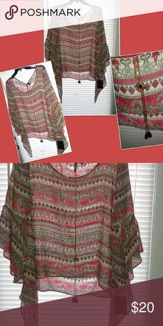 Shirt boho not free Boho vintage type New with tags. Junior HeartSoul Tops Tunics