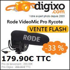 #missbonreduction; Vente flash: 33% de réduction sur Rode VideoMic Pro Rycote chez Digixo. http://www.miss-bon-reduction.fr//details-bon-reduction-Digixo-i100-c1829636.html