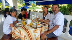 Compartimos la foto de la familia Añasco Villanueva de Chile. #HosteríaMarySol, el mejor lugar para compartir en #familia   #SanAndrés #isla #Vacaciones