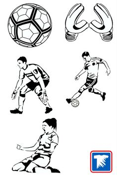 New Easy Prints® soccer Clip Art ready to customize for t-shirts, uniforms and apparel.   http://blog.transferexpress.com/new-soccer-layout-and-clip-art/