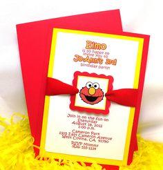 Elmo inspired food labels personalized print yourself elmo invite solutioingenieria Choice Image