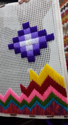 Discover thousands of images about My sixth Bargello! Hand Embroidery Flowers, Embroidery Monogram, Hand Embroidery Designs, Cross Stitch Patterns, Quilt Patterns, Crochet Patterns, Plastic Canvas Crafts, Plastic Canvas Patterns, Needlepoint Stitches