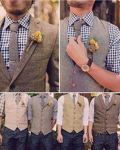 Groomsmen Vintage Style Wedding wear