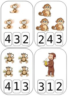 Spring Count and Clip Cards: Numbers Kindergarten Math Activities, Kindergarten Worksheets, Math Classroom, Math Games, Preschool Activities, Numbers Preschool, Math Numbers, Toddler Learning, Math For Kids