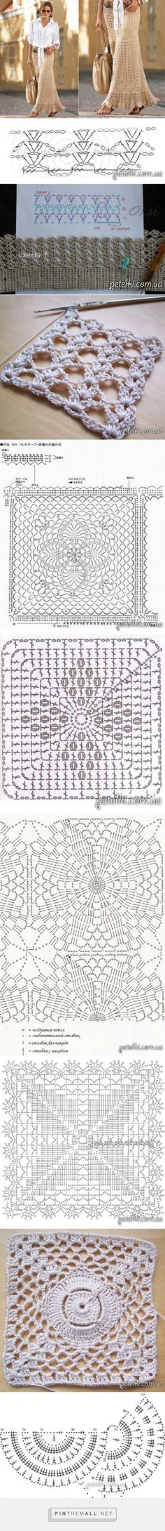 Crochet Skirt Diagram Charts Knitting 32 Ideas For 2019 See other ideas and pictures from the category menu…. Faneks healthy and active life ideas Crochet Diagram, Crochet Chart, Crochet Motif, Crochet Lace, Crochet Stitches, Gilet Crochet, Crochet Blouse, Crochet Skirts, Crochet Clothes