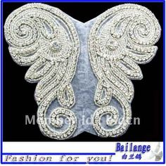 rhinestone appliques/trimming-in Patches from Apparel & Accessories on Aliexpress.com $12/pair