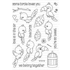 Simon Says Stamp - Clearly Besotted SOME BIRDIE LOVES YOU Clear Stamp Set