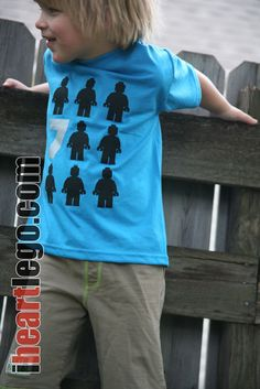 "LEGO ""Stand Out"" Birthday Shirt - Any number. $16.00, via Etsy."