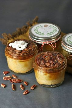 This traditional pecan pie in a jar is a quick and easy pecan pie recipe! Bake the best pecan pie using pecans, pie crust, and vanilla. You will love baking this pecan pie for a fall dessert or Thanksgiving dessert!