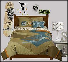 camo skateboard bedroom | skulls and skateboards