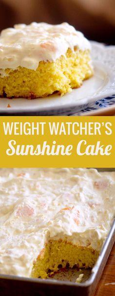 Weight Watcher's Pineapple Sunshine Cake - Recipe Diaries