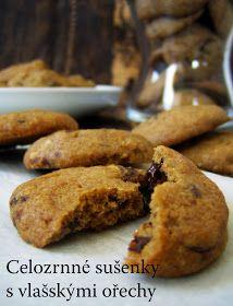 TynaTyna: Celozrnné sušenky s vlašskými ořechy Healthy Sweets, Healthy Recipes, Walnut Cookies, Deserts, Fitness, Food And Drink, Low Carb, Baking, Breakfast