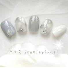 ネイルチップ in 2020 Nude Nails, Glitter Nails, My Nails, Japanese Nail Art, Elegant Nails, Cute Acrylic Nails, Powder Nails, Jamberry Nails, Nail Arts