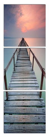 Jetty in the Distance - Photography Triptych Print - 3 Panel Landscape Photography