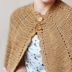 Vintage crocheted cape PDF pattern for por ElCostureroPattern