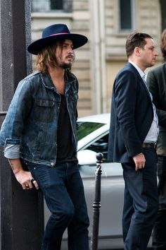 Paris, men's street style with stylish hat. #menstreetfashion