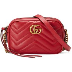 c204c1b08421 Gucci GG Marmont mini quilted-leather cross-body bag ( 980) ❤ liked ...