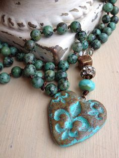 Bohemian style long hand knotted gemstone by MarleeLovesRoxy, $125.00