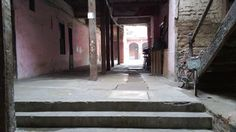 """View of an old """"Casona"""" (old big house) from the threshold entrance."""
