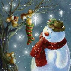 merry mice & snowman sparkle...