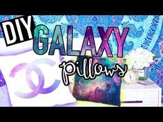 ▶ DIY GALAXY Pillows! Tumblr Room Decor for Teens! - YouTube