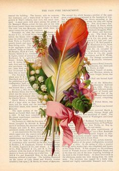 this could be a fun project. cut out floral prints (or whatever you prefer) and place on old pages. Frame and use as art!