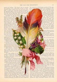 upcycled art floral vintage #FlowerShop