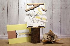 """Rustic Wedding Invitation Set – Vintage Wedding Invitations – Yellow and Gray Invites – Country Burlap Invite – """"Burlap Beauty"""" Deposit Yellow Wedding Invitations, Invites, Vintage Modern, Rustic Wedding, Burlap, Gray, Country, Unique Jewelry, Handmade Gifts"""