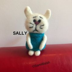 Needle Felted Soft Sculpture Gifts by on Etsy Needle Felted Cat, Needle Felted Animals, Felt Animals, Cat Lover Gifts, Cat Lovers, Felt Gifts, Needle Felting Tutorials, Unusual Animals, Quirky Gifts