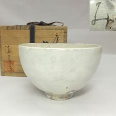 E894-Japanese-KARATSU-pottery-tea-bowl-with-KOBIKI-glaze-by-Hideji-Mizogami   AGE : About 30 years ago.   MATERIAL : Pottery of Karatsu-yaki. KARATSU-yaki is the pottery made in Hizen area, Japan. Hizen area is current Saga Prefecture. Its origin is a late 16th century. At the time, potters of Karatsu learned the technique from the Koreans. Therefore the many Karatsu techniques are similar to the Korean pottery. In the tea bowl, it is one of the pottery that tea masters are most loving… Korean Pottery, Kyushu, Pottery Making, Tea Bowls, 16th Century, 30 Years, Saga, Masters, Serving Bowls