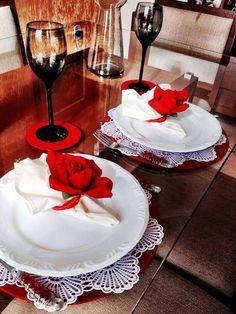 Noite romântica... Pgs de rosas