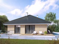 Zdjęcie projektu Elka 2 dr-st BSA2140 Bungalow House Design, Gazebo, Saints, Outdoor Structures, Outdoor Decor, Home Decor, Kiosk, Decoration Home, Room Decor