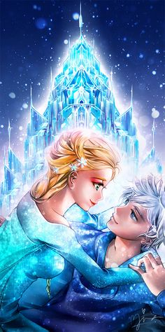 elsa, jack frost, and disney image