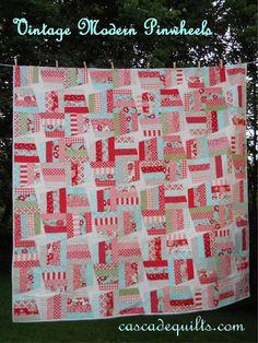 vintage modern pinwheels  #modabakeshop #modafabrics #lovepinwin