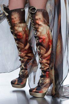 Printed boot by Maya Hansen & Ursula Mascaró
