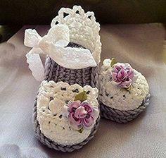 Crochet Baby Booties Latest & Beautiful Crochet Sandals For Kids 2015 Beau Crochet, Love Crochet, Crochet For Kids, Beautiful Crochet, Knit Crochet, Crochet Baby Sandals, Crochet Boots, Crochet Baby Clothes, Crochet Slippers