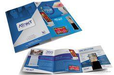 3 Fold Brochure for Digital Screen Brand ATracT by Purple Phase Communications. www.purplephase.in