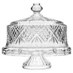 Dublin Domed Crystal Cake Plate