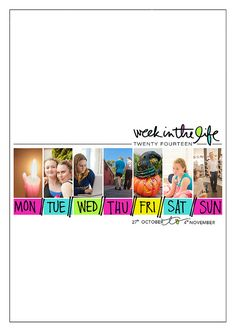 Week In The Life™ title page by aagirlz at aliedwards.com using my What Today Looked Like digital set: https://aliedwards.com/shop/brushes/what-today-looked-like