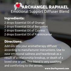archangel raphael emotional support diffuser blend recipe