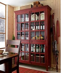 Rojo Red Tall Cabinet in Storage Cabinets | Crate and Barrel | For ...