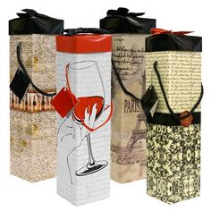 endless art Medoc Collection Wine Box Wine Gift Box, Ez Wine Caddy, Easy to Assemble and No Glue Required, 4 Piece *** See this great product.