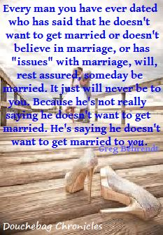My ex narc said at the start he wanted to settle down get married but as time went on he was dead against it.....