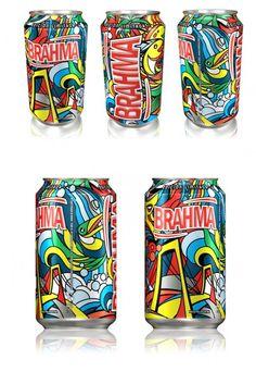 Latinha de Brahma na Argentina