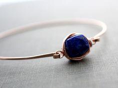 Lapis Lazuli Bezel Style Bangle from Saressa Designs