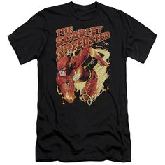 JLA/Scarlet Speedster Short Sleeve Adult T-Shirt 30/1 in