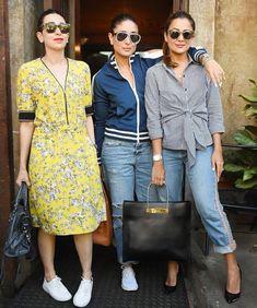 Kareena k khan Witt bff Indian Celebrities, Bollywood Celebrities, Bollywood Actress, Pakistani Dress Design, Pakistani Dresses, Kareena Kapoor Khan, Bollywood Stars, Indian Designer Wear, Western Outfits