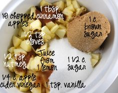 crockpot Apple butter ** used three cinnamon sticks in place of cinnamon and pumpkin pie spice.** AT
