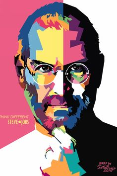 Colorful Steve Jobs iPhone wallpapers, Background and Themes